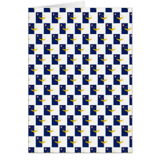Azores flag seamless pattern greeting card