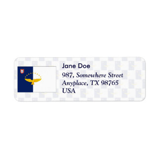 Azores flag seamless pattern return address label