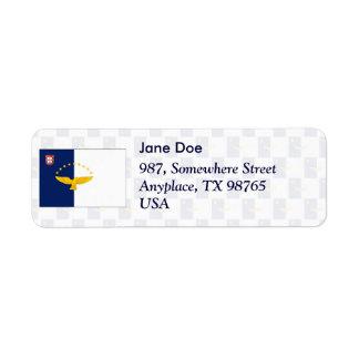 Azores flag seamless pattern return address label