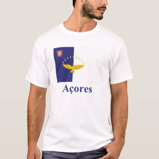 Azores Flag with Name in Portuguese T-Shirt