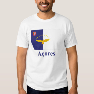Azores Flag with Name in Portuguese Tee Shirt