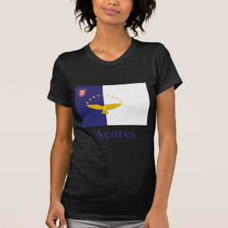Azores Flag with Name in Portuguese Tee Shirts