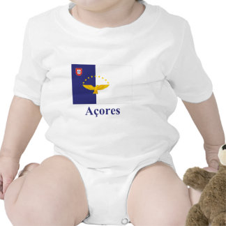 Azores Flag with Name in Portuguese Bodysuits