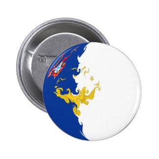 Azores Gnarly Flag Button