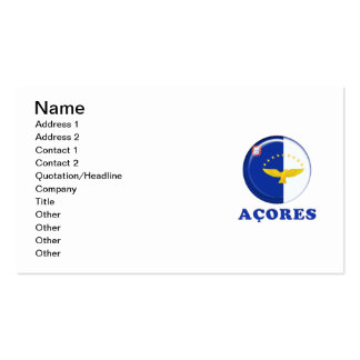 Azores islands flag pack of standard business cards