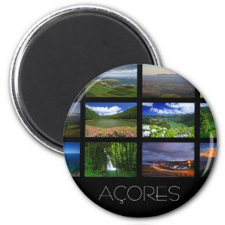 Azores Landscapes 6 Cm Round Magnet