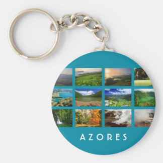 Azores Landscapes Basic Round Button Key Ring