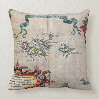 Azores Old Map - Vintage Sailing Exploration Cushion
