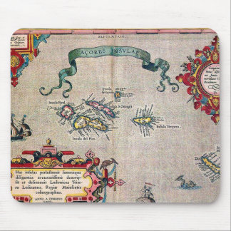 Azores Old Map - Vintage Sailing Exploration Mouse Pad