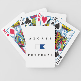 Azores Portugal Alpha Dive Flag Bicycle Playing Cards