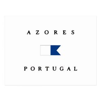 Azores Portugal Alpha Dive Flag Postcard