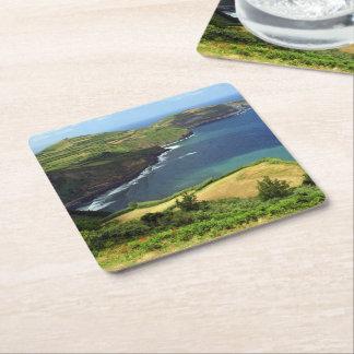 Azores sea square paper coaster