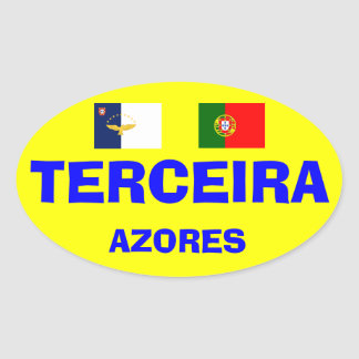 Azores - Terceira Euro-style Oval Mug Oval Sticker