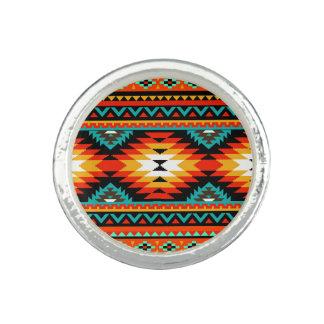 Azrec Tribal orange turquoise black gold white