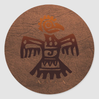 AZTEC ~ Amaranth Bird Spirit of Mexico Round Sticker