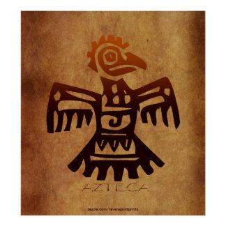 AZTEC ~ Amaranth Mexican Bird Spirit Art Poster