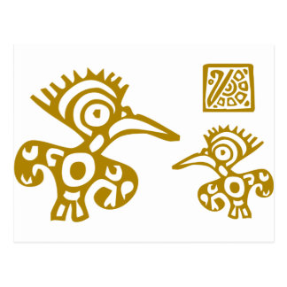 Aztec Ancient Birds! Ancient Cultures Designs! Postcard