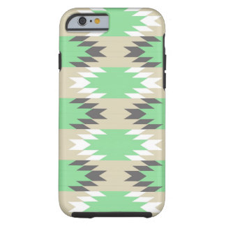Aztec Andes Tribal Green Gray Native American Tough iPhone 6 Case