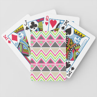 Aztec Andes Tribal Mountains Chevron Zig Zags Bicycle Playing Cards