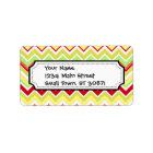 Aztec Andes Tribal Mountains Chevron Zig Zags Label