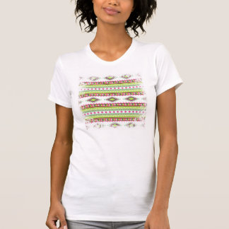 Aztec Andes Tribal Mountains Diamonds Zigzags T-shirt