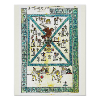 Aztec Art Codex Mendoza Cover copy,  Middle Ages Poster