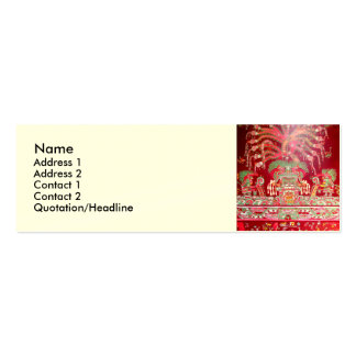 Aztec Art on Red Design Business Cards