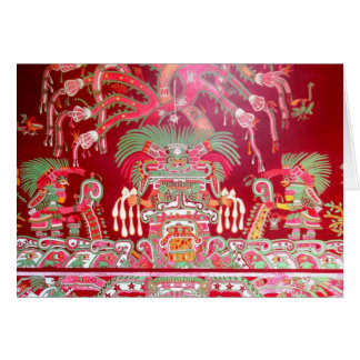 Aztec Art on Red Design Greeting Card