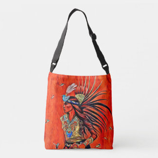 Aztec Bird Dancer Native American Cross Body Bag