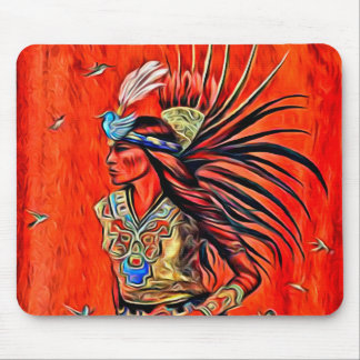 Aztec Bird Dancer Native American Mousepad