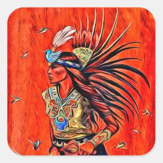 Aztec Bird Dancer Native American Stickers