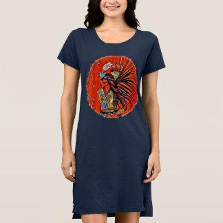 Aztec Bird Dancer Native American T-shirt Dress