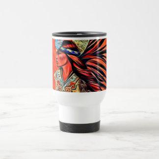 Aztec Bird Dancer Native American Travel Mug