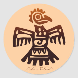 AZTEC ~ Bird Spirit Round Sticker