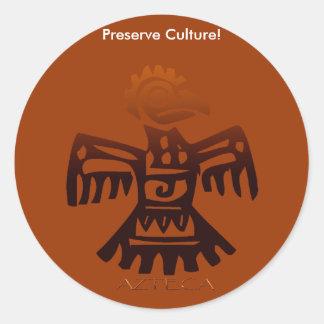 AZTEC ~ Bird Spirit Round Sticker