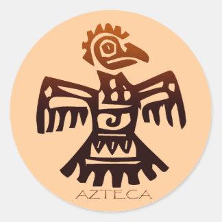 AZTEC ~ Bird Spirit Classic Round Sticker