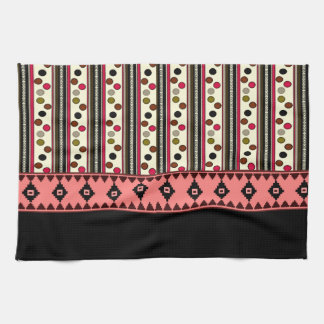 aztec black pokeadots kitchen towel