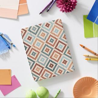 Aztec Block Symbol Pattern Teals Crm Terracottas iPad Cover