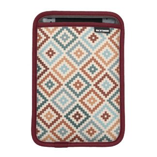 Aztec Block Symbol Ptn Teals Crm Terracottas iPad Mini Sleeve