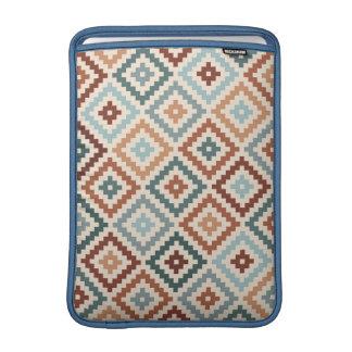 Aztec Block Symbol Ptn Teals Crm Terracottas Sleeve For MacBook Air