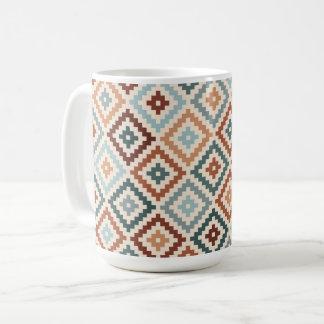 Aztec Block Symbol Rpt Ptn Teals Crm Terracottas Coffee Mug