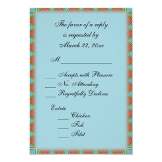 Aztec Blue with Entree Choice RSVP Card