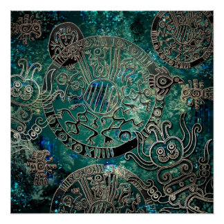 Aztec blues  Poster Paper (Semi-Gloss)