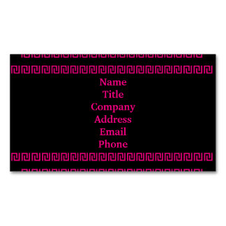 Aztec Border Pink 4Renee Magnetic Business Card