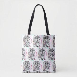 Aztec Bunny Tote Bag