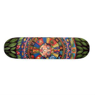 """Aztec Calendar 20"""" Skateboard"""