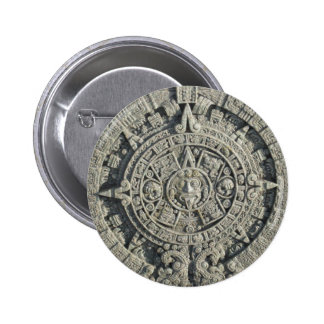 Aztec Calendar 6 Cm Round Badge