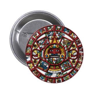 Aztec Calendar Pins