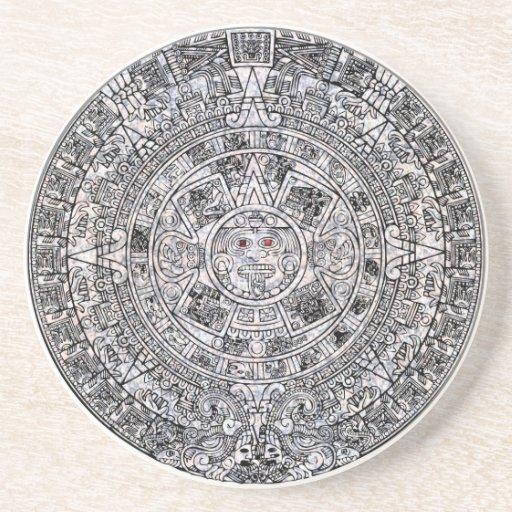 Aztec Calendar Coaster