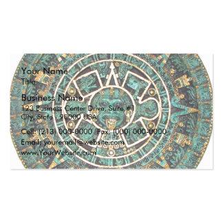 Aztec Calendar in detail Business Card